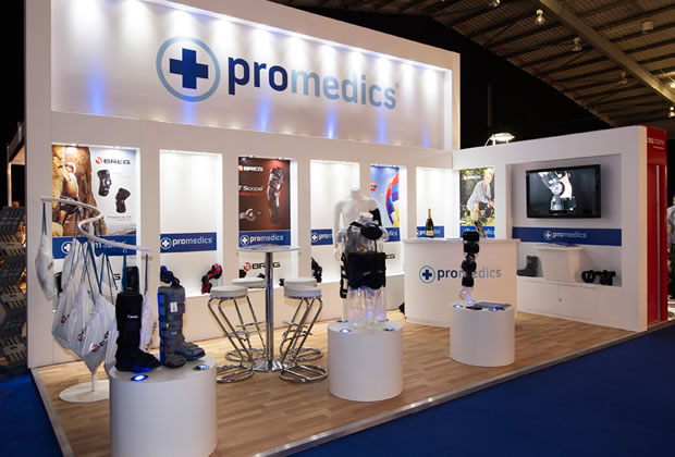 ProMedics Colonnade Exhibition Stand