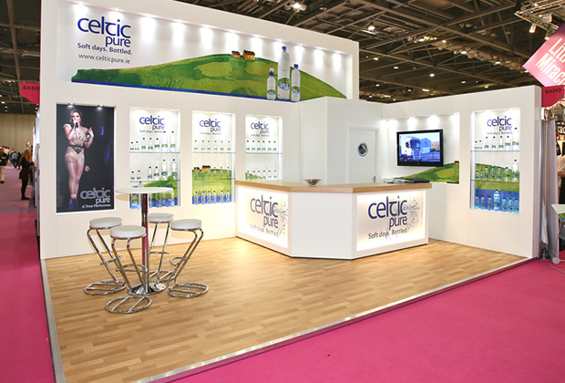 Celtic Pure Colonnade Exhibition Stand