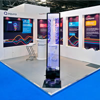 Aquira using a Colonnade Exhibition Stand