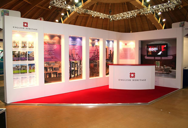 A custom built exhibition stand for English Heritage