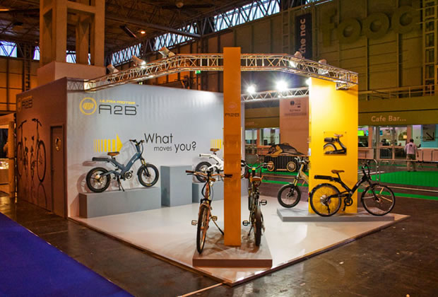 A custom built exhibition stand for Ultra Moto