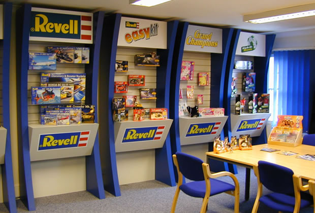 A custom built display stand for Revell