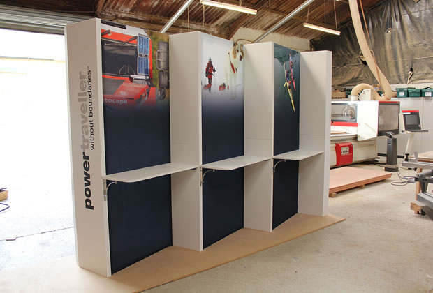 A custom built display stand for Power Traveller