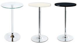 Bar Tables, White, Black and Gloss