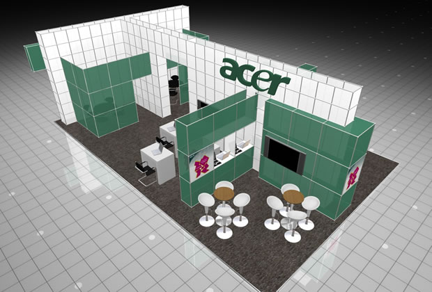Meroform Exhibition Stand for Acer