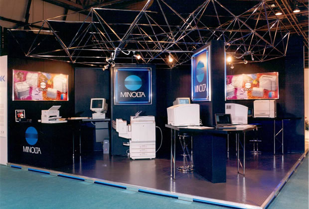 Meroform Exhibition Stand for Minolta