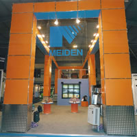 A meroform exhibition stand for Meiden