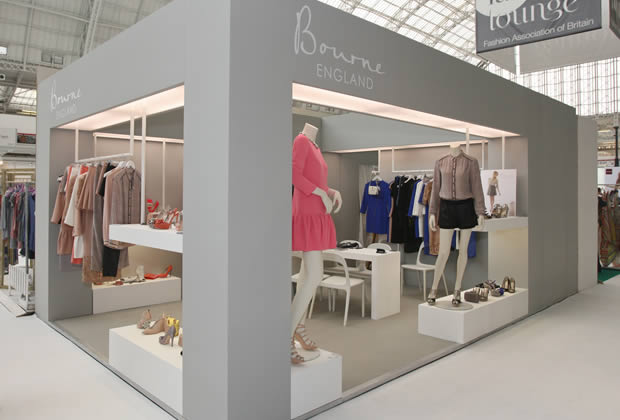 A modular exhibition stand for Bourne Shoes
