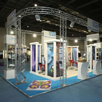 Exhibition stand created from Lighting Gantry for NHS