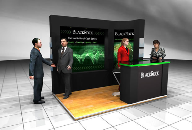 A shell scheme interior for Blackrock Exhibition Stand