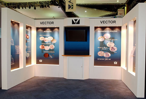 A shell scheme interior for Vector Exhibition Stand