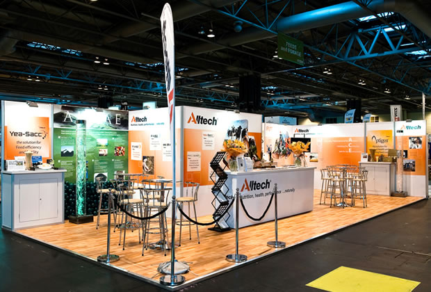 AllTech using tension fabric for their exhibition stand