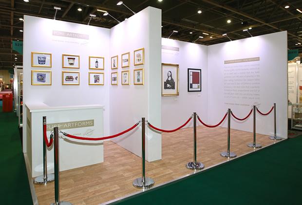 A tradition exhibition stand for California Raisins