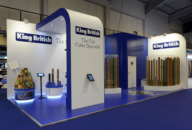 A tradition exhibition stand for King British