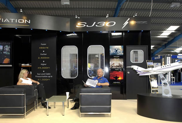 A tradition exhibition stand for Action Aviation