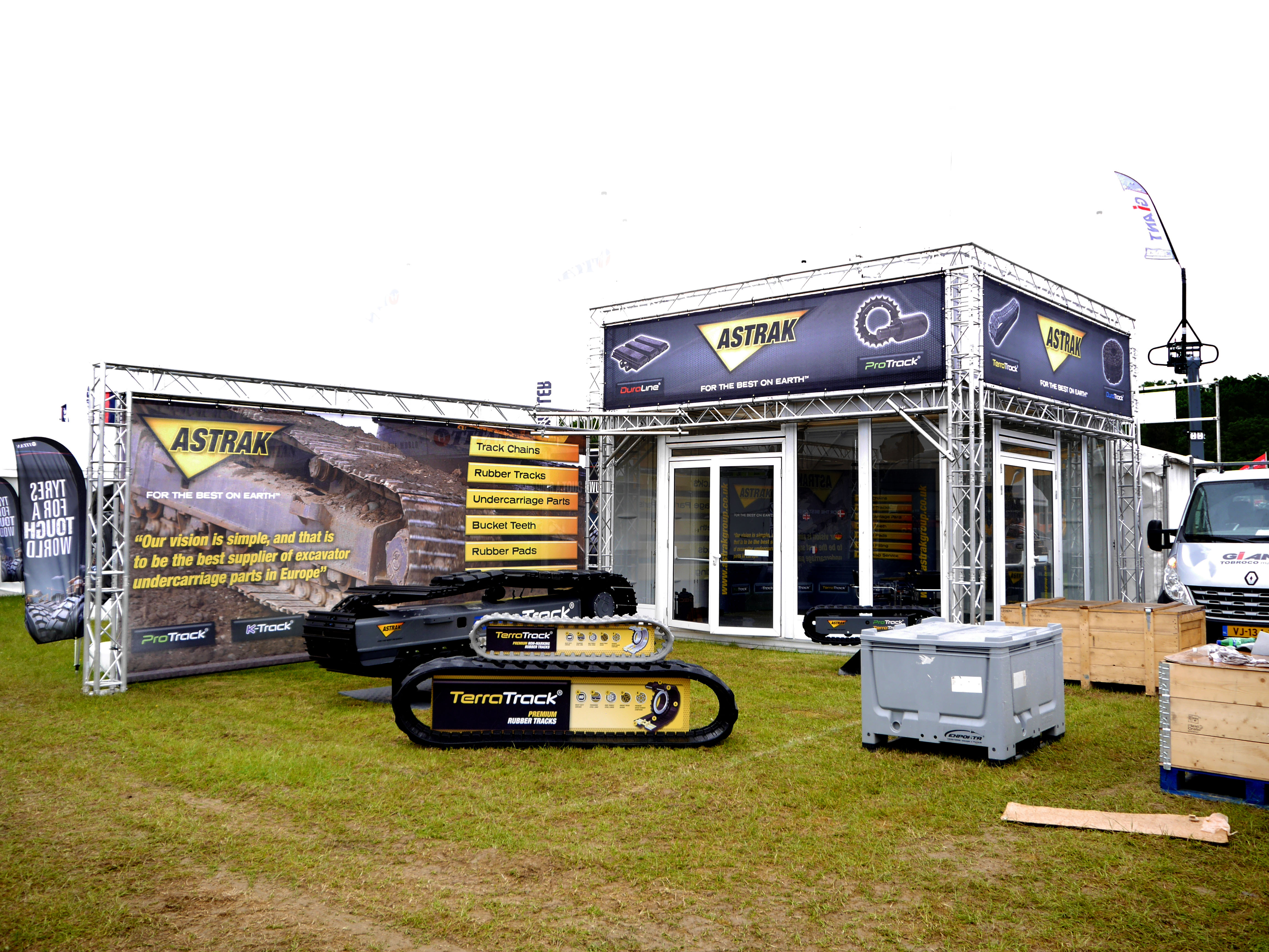 An outdoor exhibition stand for Gardners Click