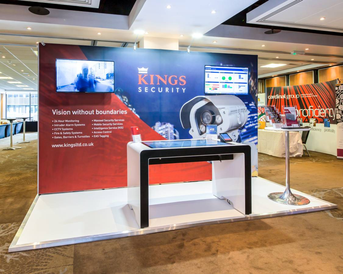 Kings Security - Tension Fabric Exhibition Stand