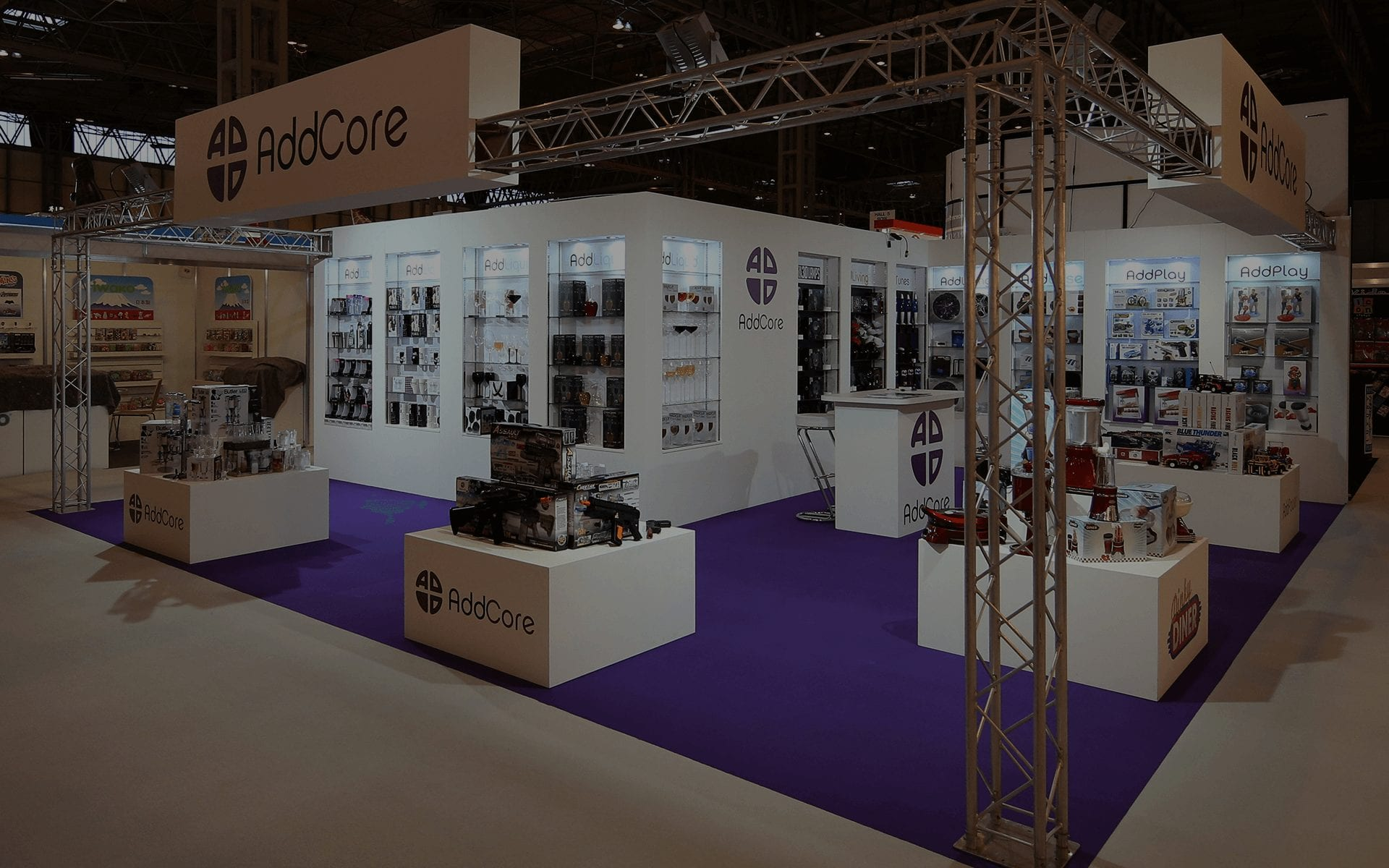 Flexible Exhibition Stands : Colonnade exhibition stands systems