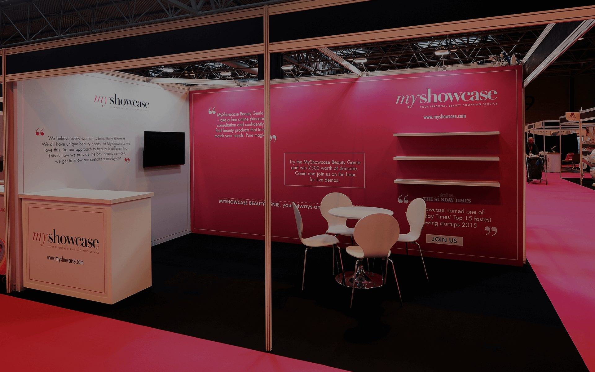Shell Clad Exhibition Stand : Shell scheme graphics interiors stands