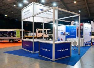 An aluminium system stand for FAVF at the Tow Show at the Telford International Centre